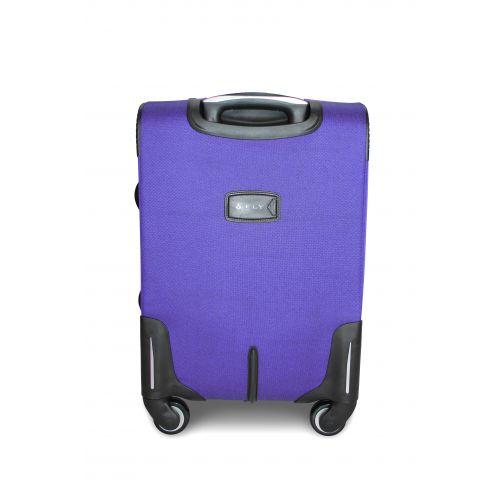 Дорожный чемодан Fly 1220-4S маленький на 4 колесах middle blue