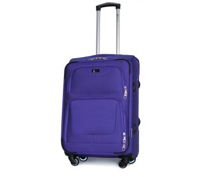 Дорожный чемодан Fly 1220-4M средний на 4 колесах middle blue