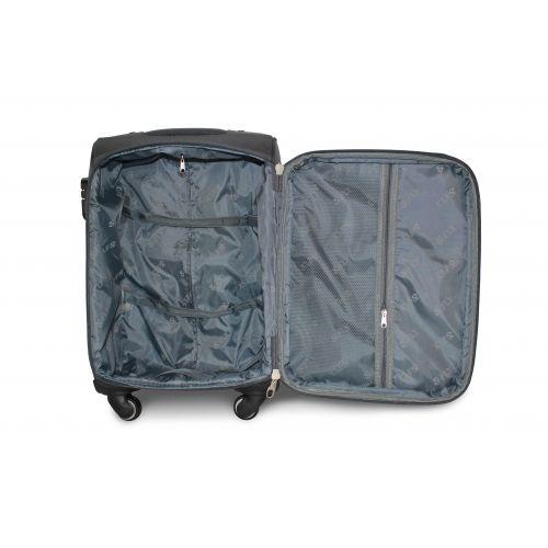 Дорожный чемодан Fly 1220-4L большой на 4 колесах серый