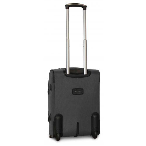 Дорожный чемодан Fly 1509-2S маленький на 2 колесах серый