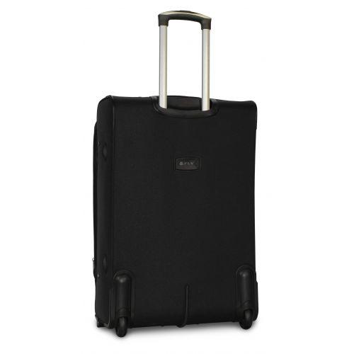 Набор дорожных чемоданов Fly 1509 3 штуки на 2 колесах черный