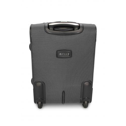Дорожный чемодан Fly 1509-2L большой на 2 колесах серый