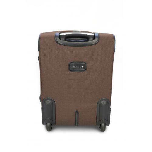 Дорожный чемодан Fly 1509-2L большой на 2 колесах кофейный