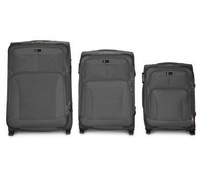 Набор дорожных чемоданов Fly 1509 3 штуки на 2 колесах серый