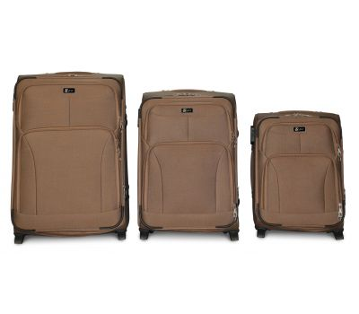 Набор дорожных чемоданов Fly 1509 3 штуки на 2 колесах бежевый