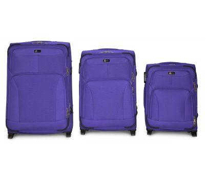 Набор дорожных чемоданов Fly 1509 3 штуки на 2 колесах фиолетовый