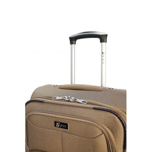 Дорожный чемодан Fly 1509-2L большой на 2 колесах бежевый