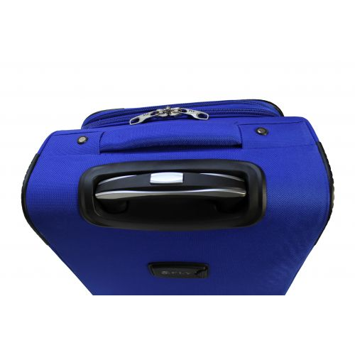 Дорожный чемодан Fly 1509-2L большой на 2 колесах голубой
