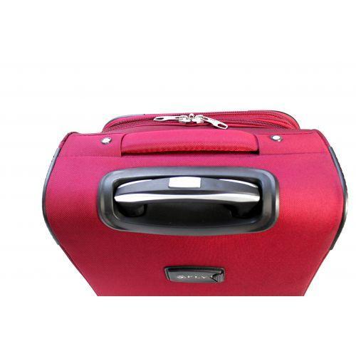 Набор дорожных чемоданов Fly 1509 3 штуки на 2 колесах бордовый