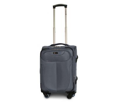 Тканевый чемодан Fly 1807 маленький S на 4 колесах серый