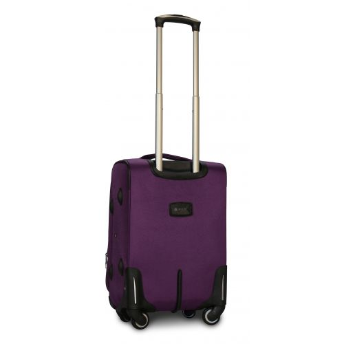 Тканевый чемодан Fly 1807 маленький S на 4 колесах фиолетовый