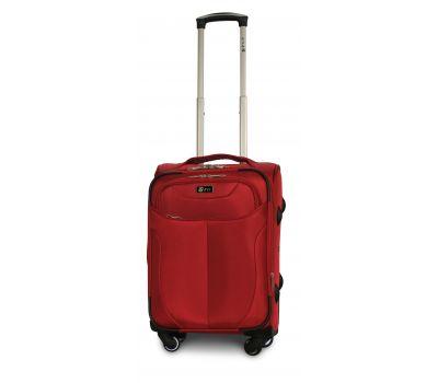 Тканевый чемодан Fly 1807 маленький S на 4 колесах красный