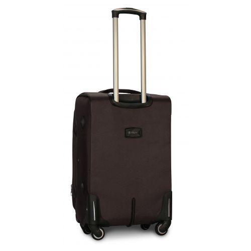 Тканевый чемодан Fly 1807 средний M на 4 колесах кофейный