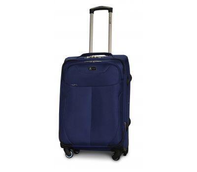 Тканевый чемодан Fly 1807 средний M на 4 колесах синий