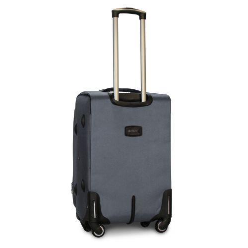 Тканевый чемодан Fly 1807 средний M на 4 колесах серый