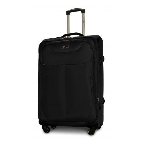 Набор тканевых чемоданов Fly 1807 на 4 колесах 3 штуки черный