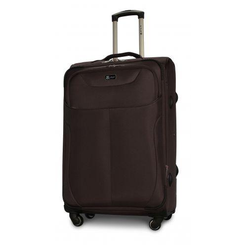 Набор тканевых чемоданов Fly 1807 на 4 колесах 3 штуки кофейный