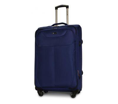 Тканевый чемодан Fly 1807 большой L на 4 колесах синий