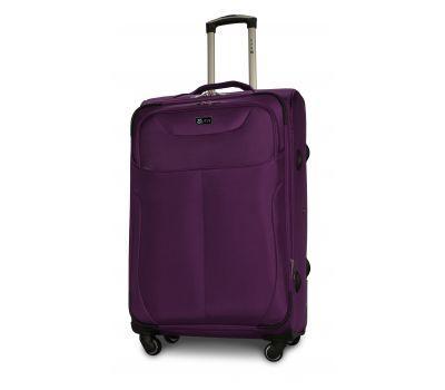 Тканевый чемодан Fly 1807 большой L на 4 колесах фиолетовый
