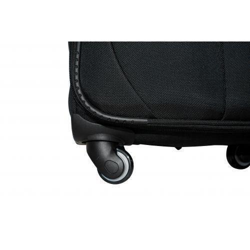 Тканевый чемодан Fly 1807 средний M на 4 колесах черный