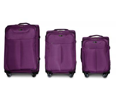 Набор тканевых чемоданов Fly 1807 на 4 колесах 3 штуки фиолетовый