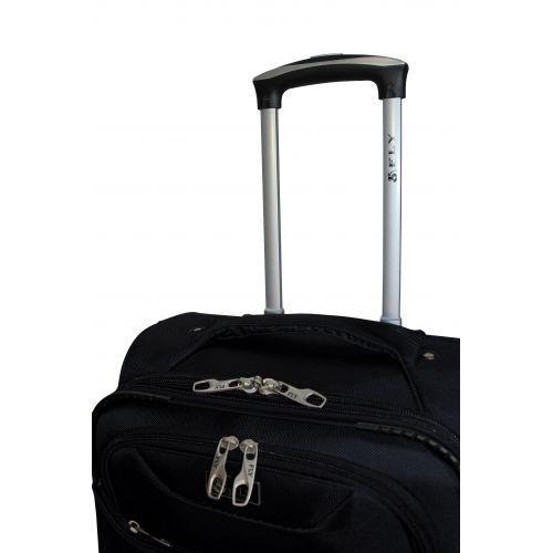 Тканевый чемодан Fly 1807 маленький S на 4 колесах черный