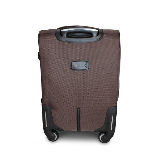 Тканевый чемодан Fly 1807 большой L на 4 колесах кофейный