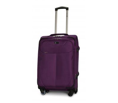Тканевый чемодан Fly 1807 средний M на 4 колесах фиолетовый