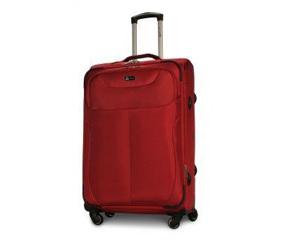 Тканевый чемодан Fly 1807 большой L на 4 колесах красный