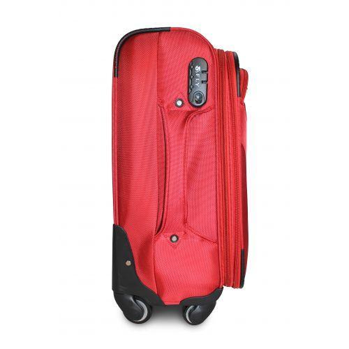 Тканевый чемодан Fly 1807 средний M на 4 колесах красный