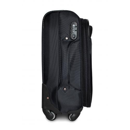 Тканевый чемодан Fly 1807 большой L на 4 колесах черный