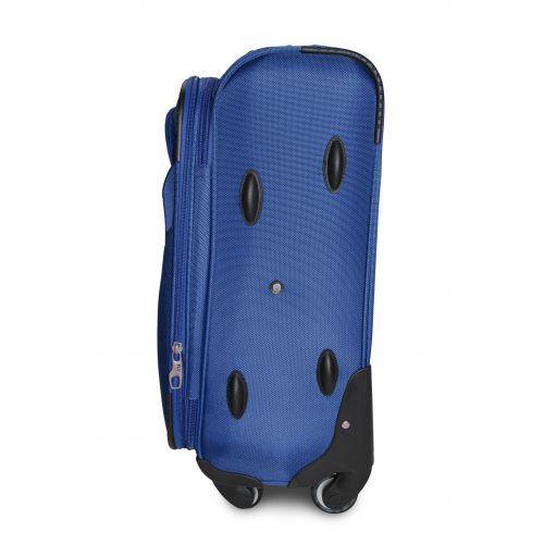 Тканевый чемодан Fly 1807 маленький S на 4 колесах синий