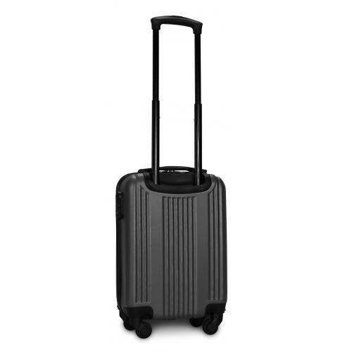 Пластиковый чемодан на колесах Fly 614 мини ручная кладь серый