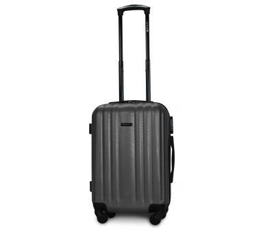 Пластиковый чемодан на колесах Fly 614 маленький серый
