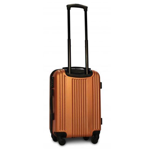 Пластиковый чемодан на колесах Fly 614 маленький оранжевый