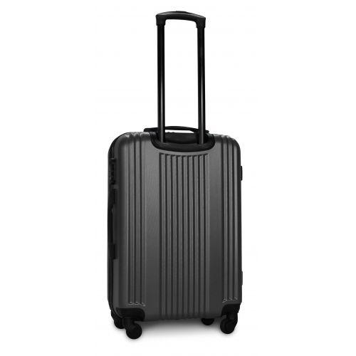 Пластиковый чемодан на колесах Fly 614 средний серый