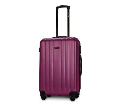Пластиковый чемодан на колесах Fly 614 средний фиолетовый