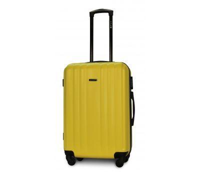 Пластиковый чемодан на колесах Fly 614 средний желтый