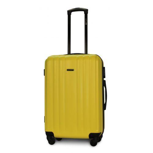 Набор пластиковых чемоданов на колесах Fly 614 4в1 желтый