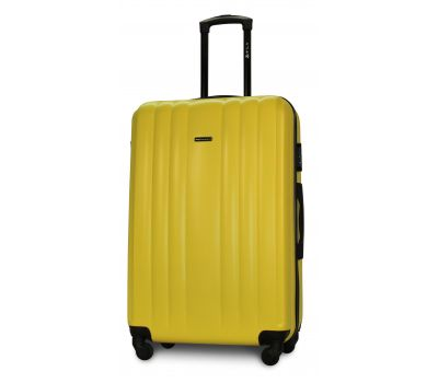 Пластиковый чемодан на колесах Fly 614 большой желтый