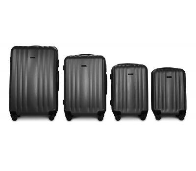 Набор пластиковых чемоданов на колесах Fly 614 4в1 серый