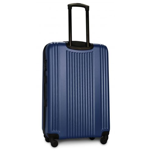 Набор пластиковых чемоданов на колесах Fly 614 4в1 синий