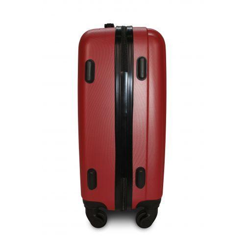 Набор пластиковых чемоданов на колесах Fly 614 3в1 бордовый
