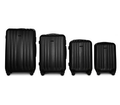 Набор пластиковых чемоданов на колесах Fly 614 4в1 черный