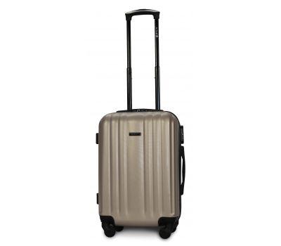 Пластиковый чемодан на колесах Fly 614 маленький шампань