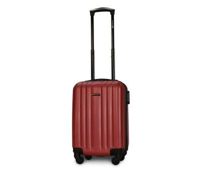 Пластиковый чемодан на колесах Fly 614 мини ручная кладь бордовый