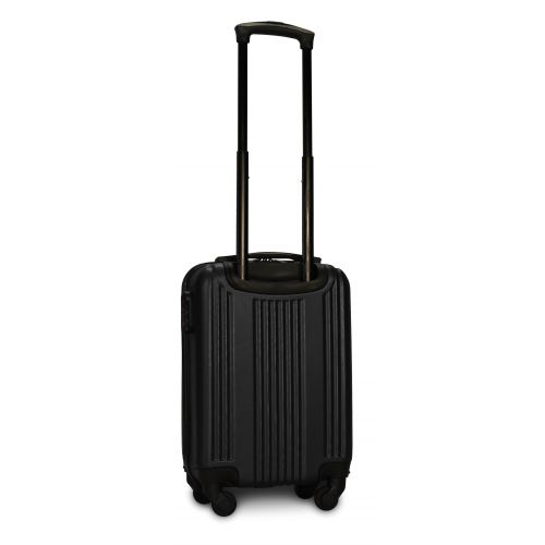 Пластиковый чемодан на колесах Fly 614 мини ручная кладь черный