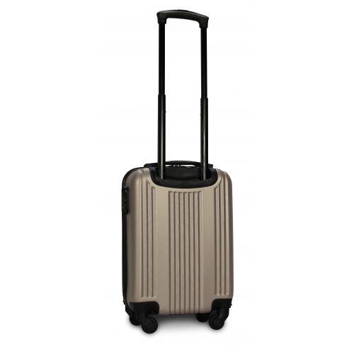 Пластиковый чемодан на колесах Fly 614 мини ручная кладь шампань