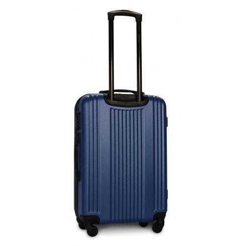 Пластиковый чемодан на колесах Fly 614 средний синий