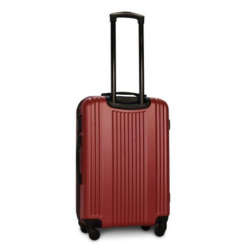 Набор пластиковых чемоданов на колесах Fly 614 4в1 бордовый